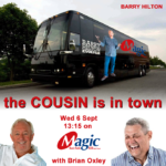 Barry Hilton visits Magic828AM