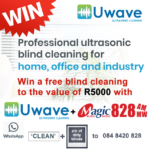 Win Blind Cleaning to Value of R5000 from Uwave Cleaning