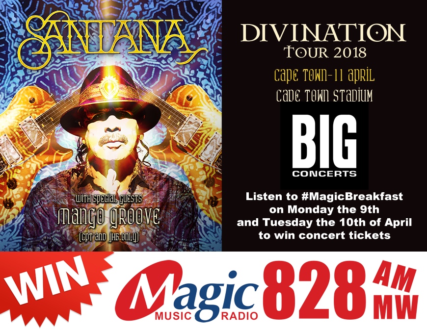 Win Tickets to see Santana live in Cape Town - Magic828